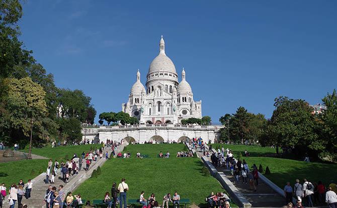 достопримечательности Парижа на карте Монмартр