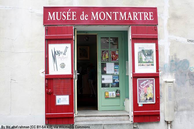 достопримечательности Монмартра в Париже на карте