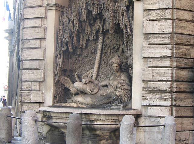 Фонтаны в Риме - перекресток Четырех фонтанов