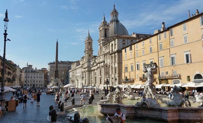 Самые красивые площади и фонтаны Рима