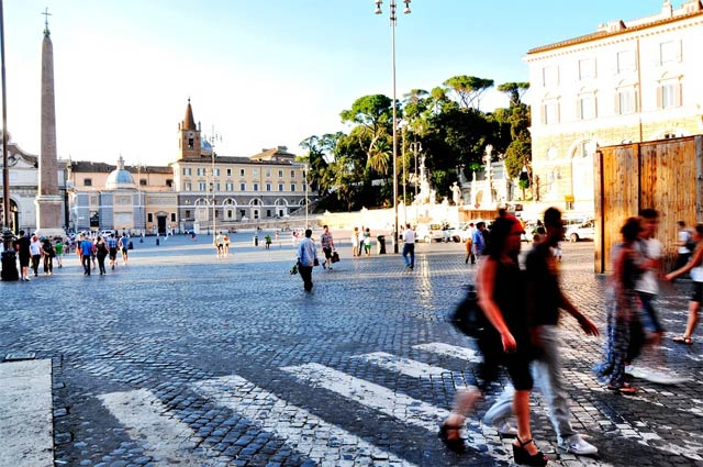 Главные площади Рима - площадь Пополо