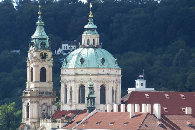 Смотровая площадка - Собор святого Микулаша Мала Страна