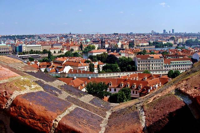 Прага смотровая площадка Пражского града