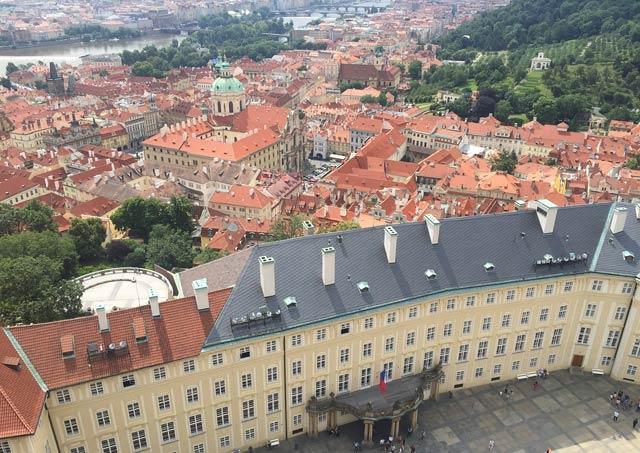 Смотровая площадки в Пражском Граде - панорамные виды Праги