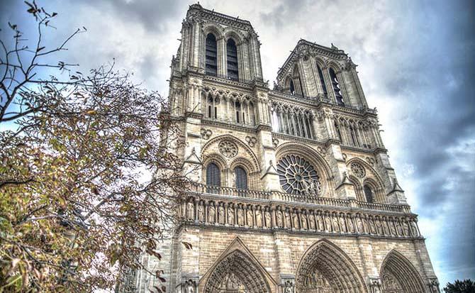 Париж собор Нотр Дам де Пари
