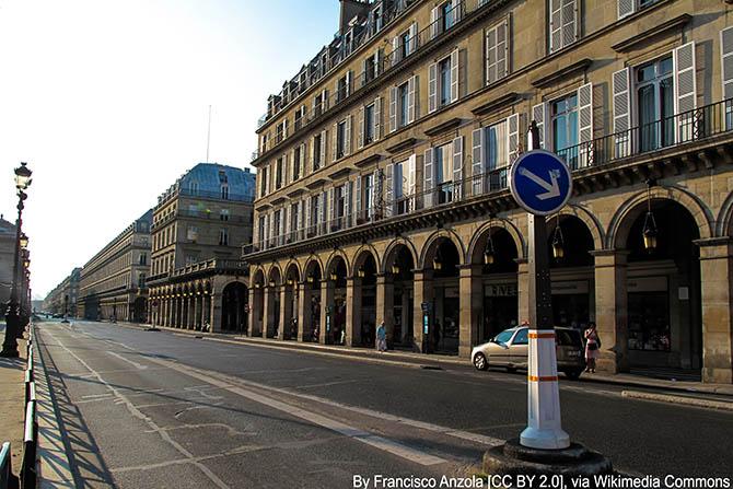 Улицы Парижа Риволи