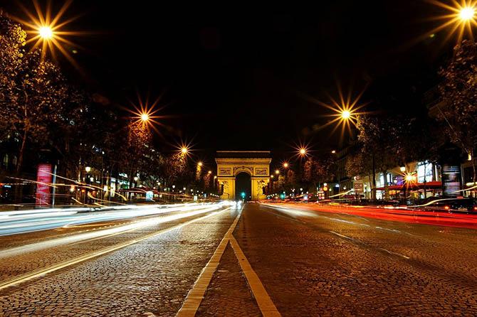 прогулка по Парижу Елисейские поля