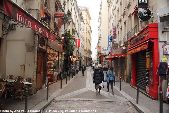 Интересные места и улицы в Париже