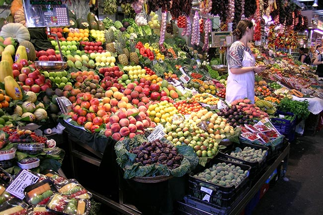 рынок в Барселоне Рамбла