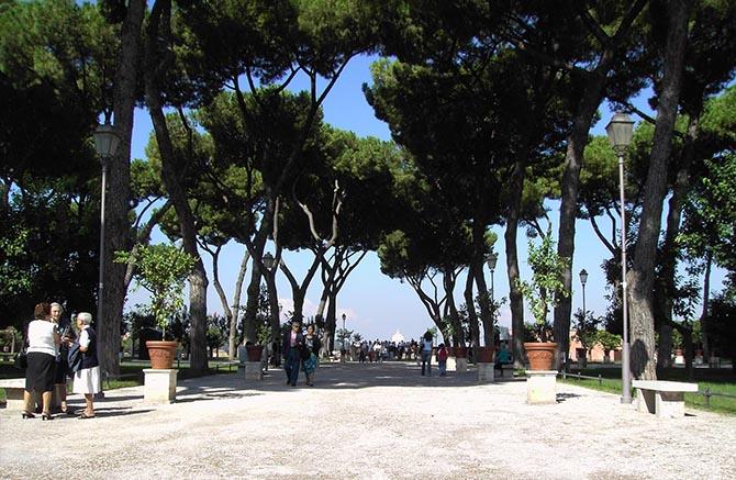 парки Рима растения