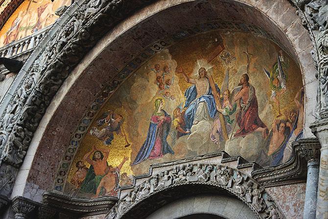 Мозаика на фасаде собора Сан Марко